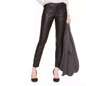 Banana Republic Faux Leather Sloan Fit Jeans | 0